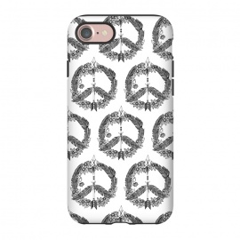 iPhone 8/7  Bohemian Peace Sign Print by Becky Starsmore