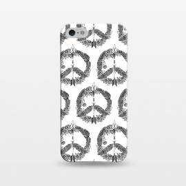 iPhone 5/5E/5s  Bohemian Peace Sign Print by Becky Starsmore