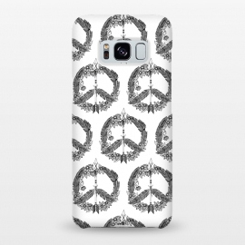 Galaxy S8+  Bohemian Peace Sign Print by Becky Starsmore
