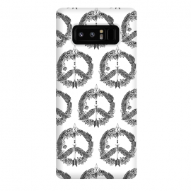 Galaxy Note 8  Bohemian Peace Sign Print by Becky Starsmore