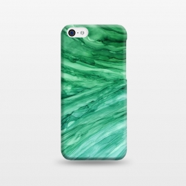iPhone 5C  Emerald Green Marble by Becky Starsmore