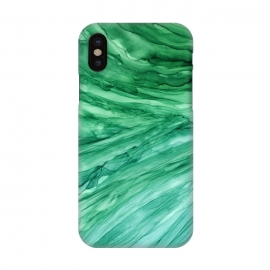 iPhone X  Emerald Green Marble by Becky Starsmore