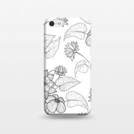 iPhone 5C  Monochrome Sketchbook Floral by Becky Starsmore