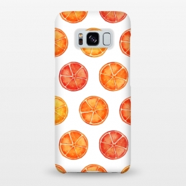 Galaxy S8+  Orange Slices Citrus Print by Becky Starsmore