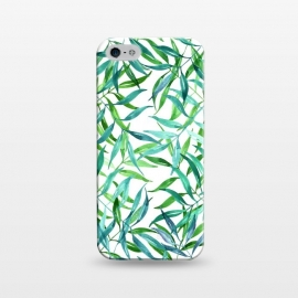 iPhone 5/5E/5s  Green Palm Leaf Print by Becky Starsmore
