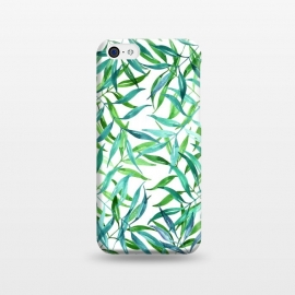 iPhone 5C  Green Palm Leaf Print by Becky Starsmore