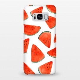 Galaxy S8+  Fruity Summer Watermelon Print by Becky Starsmore