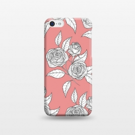 iPhone 5C  Dusky Pink Vintage Rose Print by Becky Starsmore