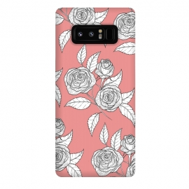 Galaxy Note 8  Dusky Pink Vintage Rose Print by Becky Starsmore