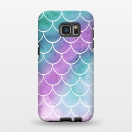 Galaxy S7 EDGE  Dreamy Pastel Mermaid Scales by Becky Starsmore