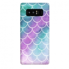 Galaxy Note 8  Dreamy Pastel Mermaid Scales by Becky Starsmore