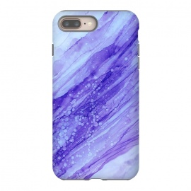 Purple Marble Print by Becky Starsmore