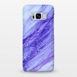 Galaxy S8+  Purple Marble Print by Becky Starsmore