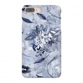 Autumnal fresh gray and blue flower rose pattern by Utart