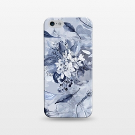 iPhone 5/5E/5s  Autumnal fresh gray and blue flower rose pattern by