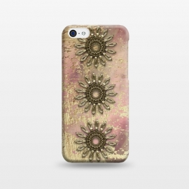 iPhone 5C  Golden Embellishments On Pink And Gold by Andrea Haase