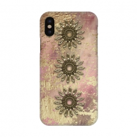 iPhone X  Golden Embellishments On Pink And Gold by Andrea Haase