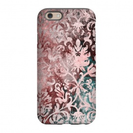 iPhone 6/6s  Rosegold Damask by Andrea Haase