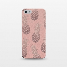 iPhone 5/5E/5s  Shiny Pink Pineapple by Andrea Haase