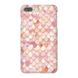 iPhone 8/7 plus  Wonky Rose Gold Mermaid Scales by
