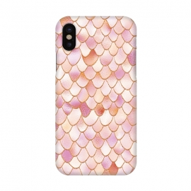 iPhone X  Wonky Rose Gold Mermaid Scales by Utart