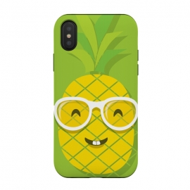 Summer Fun - Smiling Pineapple by DaDo ART (summer,fun,pineapple,food,fruit,green,yellow,girl,girls,girly,nature,natural,humor,sunglasses,beach,holiday,vacation)