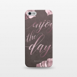 iPhone 5/5E/5s  Enjoy The Day Rose Gold Typography by Andrea Haase