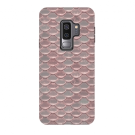Galaxy S9 plus  Pink Snake Skin by  (shiny, shimmering, pink, snake, skin, background, pastel, pattern, reptile, artificial, metallic, elegant, feminine, surface, precious, glamorous, glitter, glamour, glitz, fashionable, timeless,Gift,Mermaid,Fish,Scale)