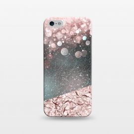 iPhone 5/5E/5s  Rosegold Sparkle by Andrea Haase