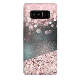 Galaxy Note 8  Rosegold Sparkle by Andrea Haase