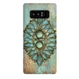 Galaxy Note 8  Turquoise Embellishment by Andrea Haase
