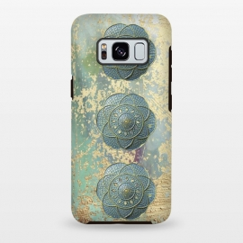 Galaxy S8 plus  Precious Embellishment On Gold And Teal by
