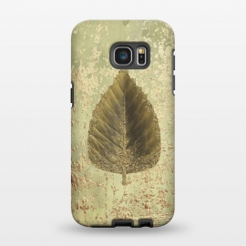 Galaxy S7 EDGE  Golden Leaf And Sparkle by Andrea Haase