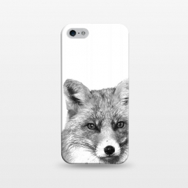 iPhone 5/5E/5s  Black and White Fox by Alemi