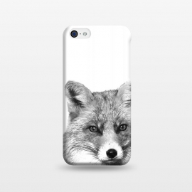 iPhone 5C  Black and White Fox by Alemi