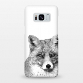 Galaxy S8+  Black and White Fox by Alemi