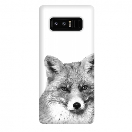 Galaxy Note 8  Black and White Fox by Alemi