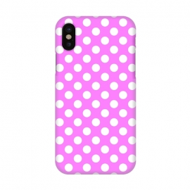 iPhone X  Polka Dots Pink by Alemi