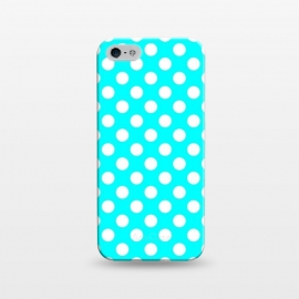 iPhone 5/5E/5s  Polka Dots Turquoise by Alemi