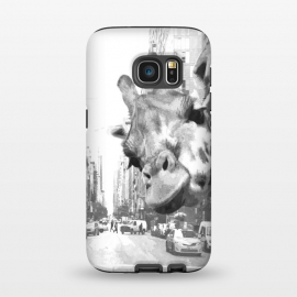Galaxy S7  Black and White Selfie Giraffe in NYC by Alemi