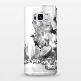 Galaxy S8+  Black and White Selfie Giraffe in NYC by Alemi