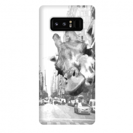 Galaxy Note 8  Black and White Selfie Giraffe in NYC by Alemi