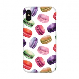 iPhone X  Macaroon Dance on White by DaDo ART