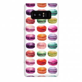 Galaxy Note 8  Macaroon Walk on White by DaDo ART