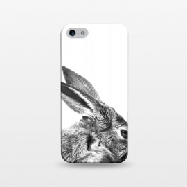 iPhone 5/5E/5s  Black and White Rabbit by Alemi
