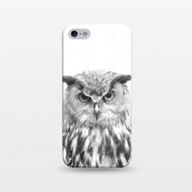 iPhone 5/5E/5s  Black and White Owl by Alemi