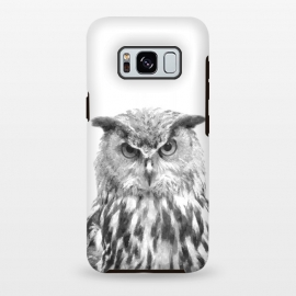 Galaxy S8+  Black and White Owl by Alemi
