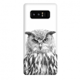 Galaxy Note 8  Black and White Owl by