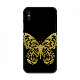 iPhone X  Butterfly Gold by Alemi