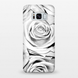 Galaxy S8+  Black and White Roses by Alemi